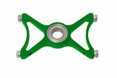 RKH zusä. 3.Hauptrotorwellenlagerplatte in grün für RKH Hauptr. für Blade 230S