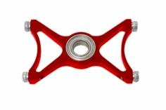 RKH zusä. 3.Hauptrotorwellenlagerplatte in rot für RKH Hauptr. für Blade 230S