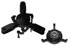 PSG Rotorkopf 3 Blatt Rotorkopf Pro Kit schwarz eloxiert für 600er mit Taumelscheibe