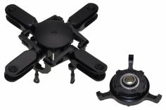 PSG Rotorkopf 4 Blatt Rotorkopf Pro Kit schwarz eloxiert für 600er mit Taumelscheibe