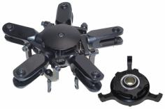 PSG Rotorkopf 5 Blatt Rotorkopf Pro Kit schwarz eloxiert für 600er mit Taumelscheibe