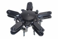 PSG Dynamics Rotorkopf 5 Blatt Rotorkopf schwarz eloxiert für 500er NEUE VERSION mit 10mm Blattanschluss