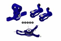 Rakonheli Hauptrotorkopf Set in blau für Blade Nano CPX/CPS/S2
