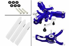Rakonheli 3 Blatt Rotorkopf-Set in blau für Blade Nano CP S, Nano S2