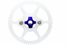 Rakonheli Hauptzahnrad Delrin mit Alu Nabe in blau für Blade Nano CP S, Nano S2