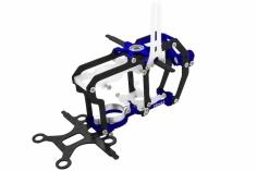 Rakonheli Hauptrahmen aus Carbon in blau für Blade Nano CPs