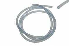 Silikonschlauch blau transparent 1 Meter, Außen 5mm, Innen 2mm