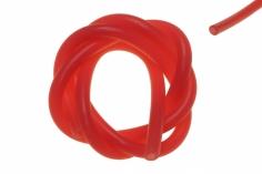 Silikonschlauch rot transparent 1 Meter ( 2x0,5 Meter ), Außen 5mm, Innen 2mm