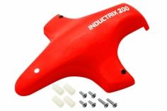 Rakonheli Tuning Haube aus Fiberglas in rot für Blade Inductrix 200