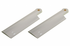 HeliTec der Blattschmied Scale Heckrotorblätter 2Blatt in weiß 80 mm