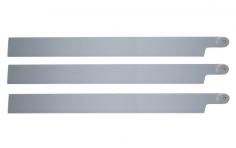 HeliTec der Blattschmied Scale Hauptrotorblätter 3Blatt in licht grau 435mm