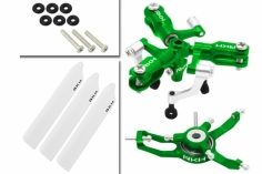Rakonheli 3 Blatt Rotorkopf-Set in grün für Blade Nano CP S, Nano S2