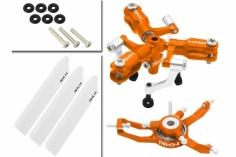 Rakonheli 3 Blatt Rotorkopf-Set in orange für Blade Nano CPS