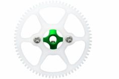 Rakonheli Hauptzahnrad Delrin mit Alu Nabe in grün für Blade Nano CPS