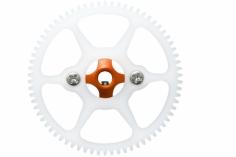 Rakonheli Hauptzahnrad Delrin mit Alu Nabe in orange für Blade Nano CPS