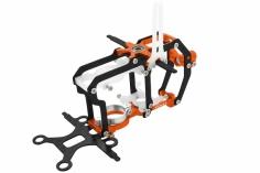 Rakonheli Hauptrahmen aus Carbon in orange für Blade Nano CPS