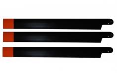 HeliTec der Blattschmied Scale Hauptrotorblätter 3Blatt in schwarz 435mm