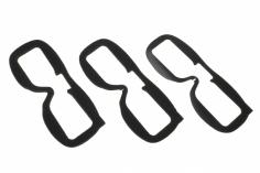 Fatshark Faceplate Schaumeinsatz für Fatshark Dominator Videobrillen 3 Stück