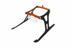 Rakonheli Landegestell in orange für Blade Nano CPX/CPS/S2