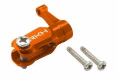 Rakonheli Dreiblattkopf Blatthalter orange aus CNC Alu für Blade Nano CPS