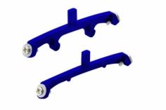 Rakonheli Landegestellhalterung blau aus CNC Alu für Blade Nano CPX/CPS