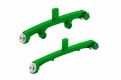 Rakonheli Landegestellhalterung grün aus CNC Alu für Blade Nano CPX/CPS