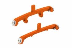 Rakonheli Landegestellhalterung orange aus CNC Alu für Blade Nano CPX/CPS