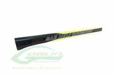 Heckrohr gelb/carbon für Goblin 650 BlacK Thunder