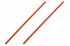 Antennenrohr 15cm 2 Stück in orange