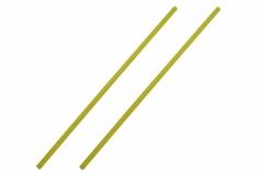 Antennenrohr 15cm 2 Stück in gelb