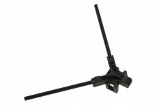 Antennenhalter rund in schwarz mit Antennenrohr