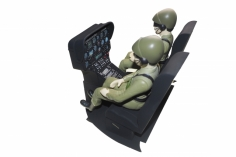 Scale Cockpit mit Piloten für Hughes MD500E und MD500D für 600er