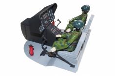 Scale Cockpit mit Piloten für BO-105 für 600er