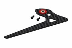 OXY Ersatzteil Heckfinne mit rotem Aluminiumkugellagerhalter für OXY3