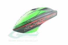 Kabinenhaube aus carbon schwarz/grün für Goblin BLACK Thunder 700