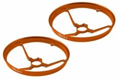 Rakonheli 7mm Motor Rahmen Propellerschützer in orange für Blade Inductrix
