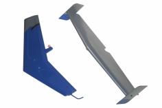 MD500 Leitwerkset in Blau für 600er