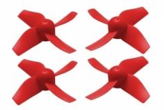 Rakonheli Propellerset in rot 4 Stück für Blade Inductrix