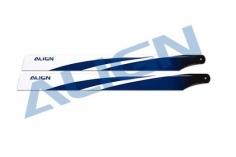 Align Hauptrotoblätter Satz 380mm in blau für Dominator 470L