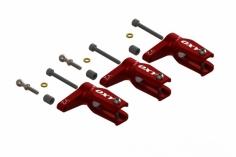 OXY Ersatzteil Hauptrotorblatthalter V2 in rot für den OXY3 Drei-Blattkopf