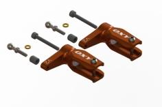 OXY Ersatzteil Hauptrotorblatthalter V2 in orange für den OXY3 Tareq Edition