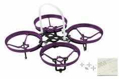 Rakonheli 7 mm Motoren Tuning Rahmen aus carbon in violet für Blade Inductrix