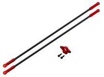 Rakonheli Heckstreben Carbon/Alu in rot für Blade 250CFX