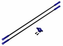 Rakonheli Heckstreben Carbon/Alu in blau für Blade 250CFX