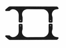 Rakonheli Landegestell Ersatzkufen in carbon für Blade 250CFX