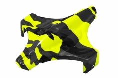 Rakonheli Haube in gelber camouflage Optik für Blade Inductrix