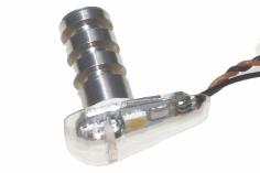 Unilight Dual LED Positions und Blitzlicht, kurz, 7mm, 3Wx2 in weiß grün
