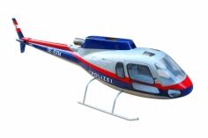 450er Rumpf Eurocopter AS-350 in österreichischer Polizei Lackierung
