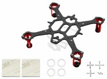 Rakonheli Tuning Rahmen V2 aus carbon in rot für Blade Nano QX2