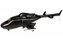 450er Rumpf Bell 222 GFK Airwolf schwarz